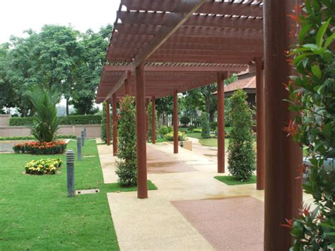 building a covered pergola building covered walkways and pergolas thai garden design
