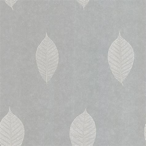 grey wallpaper with leaves 58 54460 light grey leaf malabar kenneth james wallpaper