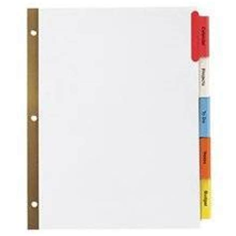avery 11110 template avery 174 worksaver big tab reinforced dividers with clear