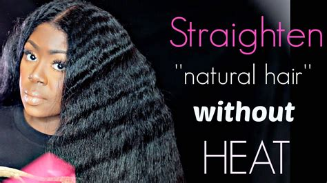 How To Style Hair For Black Without Heat by How To Straighten Hair Without Heat