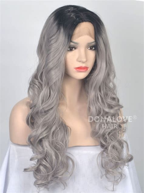 soft perm grey hair soft perm grey hair schwarz nach grau ombre wellig