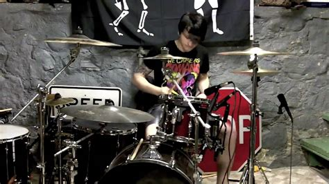 bullet for my drummer bullet for my 10 years today drum cover by