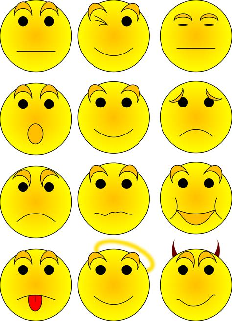 smiley clipart free vector clipart illustration smileys