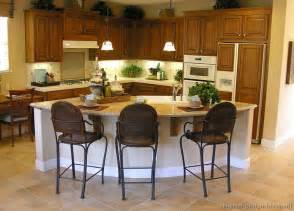 Curved Kitchen Island Designs by Pictures Of Kitchens Traditional Medium Wood Cabinets