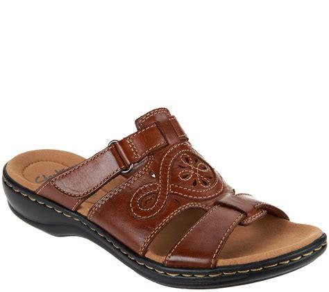 www sandals clarks leather adjustable slide sandals leisa higley