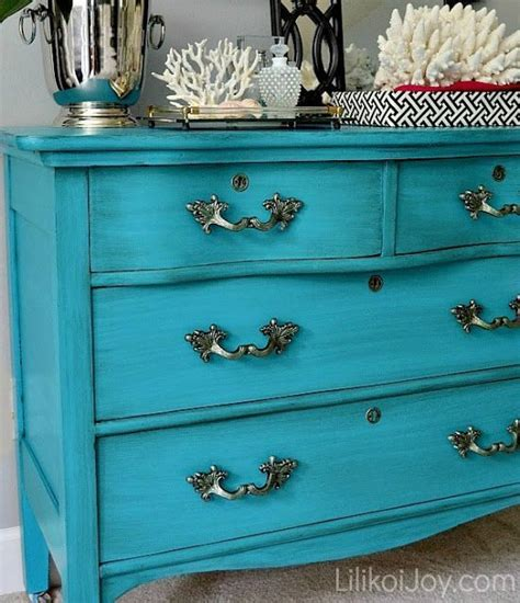 Turquoise Dresser by Turquoise Dresser Makeover Diy