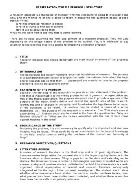 thesis proposal abstract exle tips on how to write thesis and dissertation proposal at