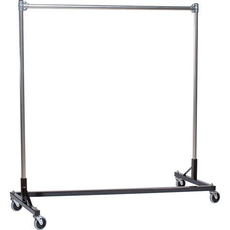 quality fabricators black z rack heavy duty clothes rack