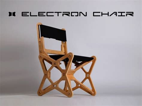flat pack electron chair  cnc milled  beech plywood