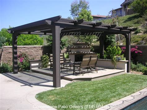 free standing patio covers cornerstone patio covers
