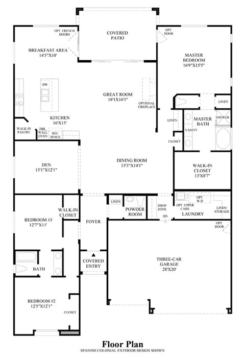 floor plans brisbane mirasol at mountain s edge the traditions collection the santa rosa home design