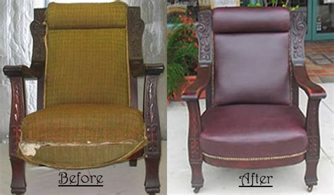 quality upholstery chairs before and after
