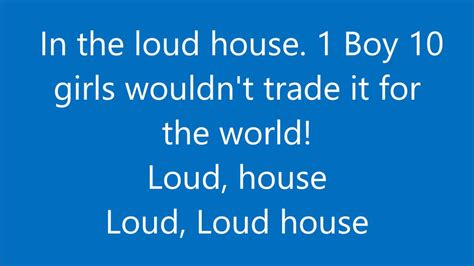 house music with words the loud house extended theme song lyrics youtube