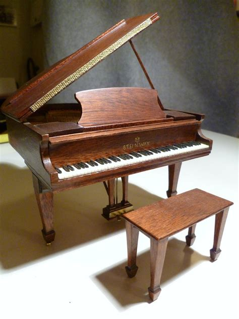 Handmade Pianos - ralph e partelow 1993 miniature handmade wood steinway