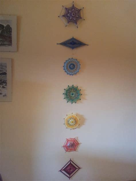 mandala de hilos de colores  representan los siete