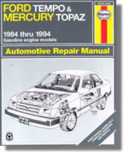 old cars and repair manuals free 1994 mercury topaz navigation system haynes ford tempo mercury topaz 1984 1994 auto repair manual