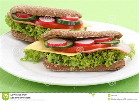 delicious sandwiches royalty free stock photos image