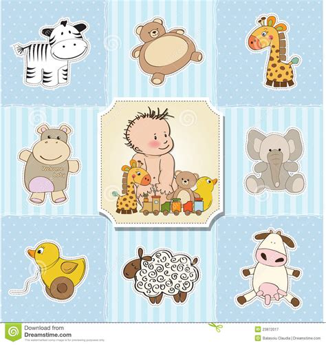 Template Baby Boy Card by Baby Boy Template Shower Card Stock Vector Illustration