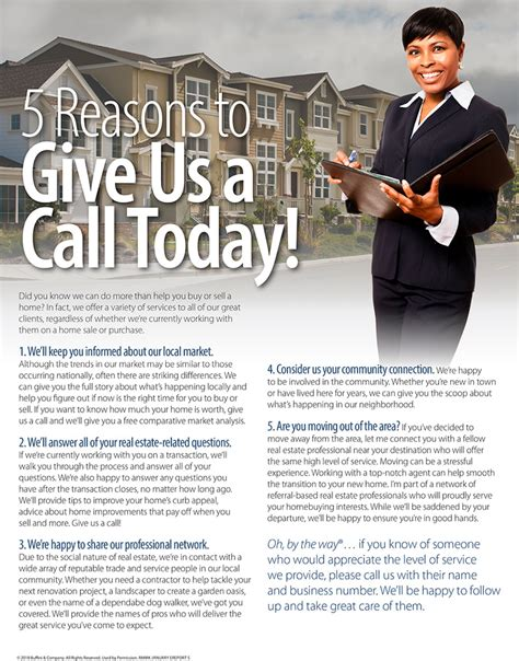 Reasons To Call Your Today by 5 Reasons To Give Us A Call Today Real Estate