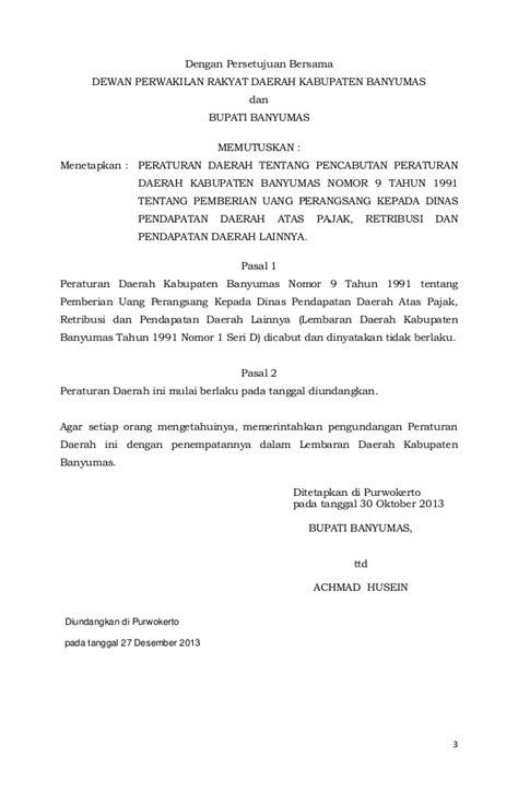Nomor Cantik Tri 3 Seri Tahun 1991 2011 Hoki Murah Meriah Peraturan Daerah Kabupaten Banyumas Nomor 13 Tahun 2013