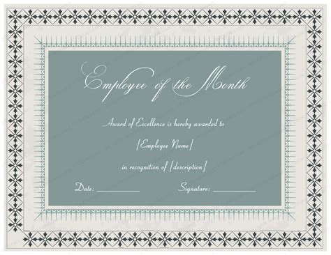 employee appreciation certificate templates excellent employee performance award certificate designs