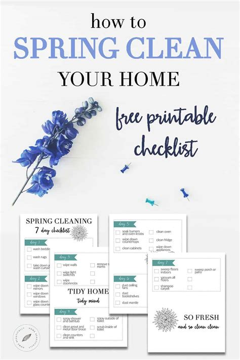 How To Spring Clean Your House In A Day | how to spring clean your home in one week home beautifully