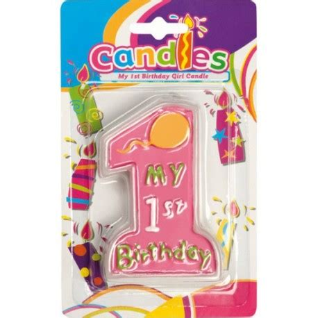 candela di cera candela di cera my birthday 1 st per torta primo