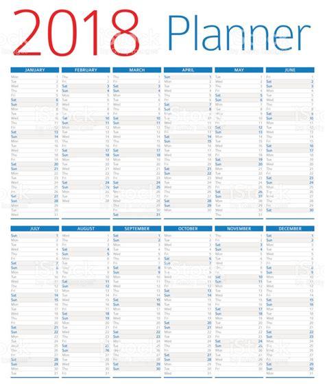 Calendar 2018 Photos Calendar Planner 2018 Stock Vector More Images Of