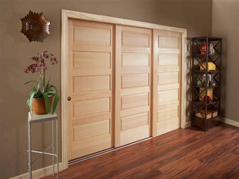 3 Door Closet Sliding Doors 3 Door Sliding Bypass Closet Doors Closet Doors