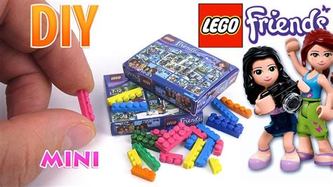 tutorial lego friends diy miniature lego friends set dollhouse no polymer