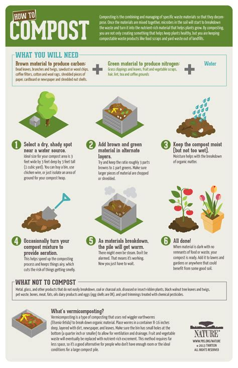 inside nature infographic how to compost