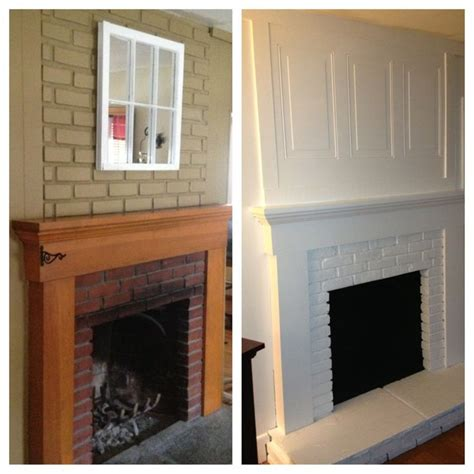 finally done with fireplace redo brick