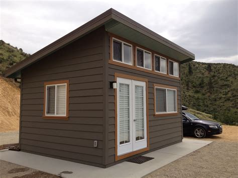 slant roof style  dormer   french door storage