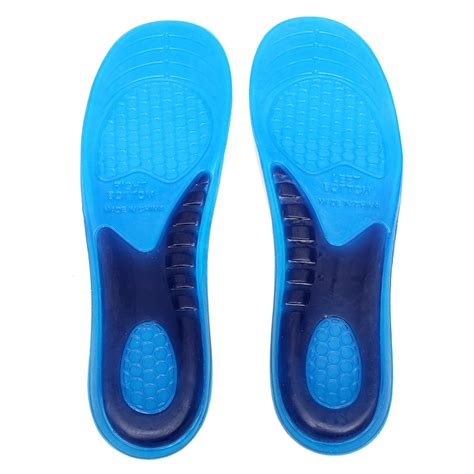 sport shoe insoles gel orthotic arch support massaging sport shoe