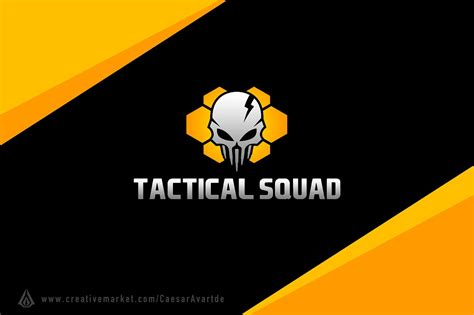 Tactical Squad Logo Template Logo Templates Creative Market Esport Logo Template