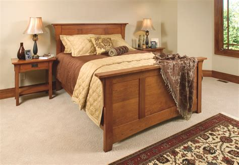 mission style cherry bedroom furniture craftsman