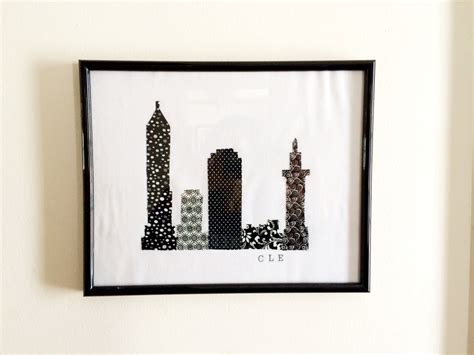 In Cleveland Wall Cleveland Ohio Fabric Cleveland Wall By Lindasotherlife