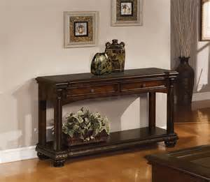 shop for anondale cherry sofa table with storage drawers