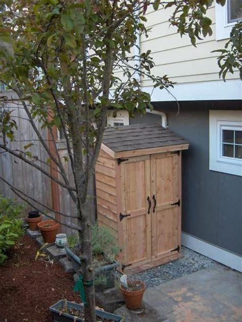Do It Yourself Shed by Mini Cedar Storage Shed Do It Yourself Home Projects