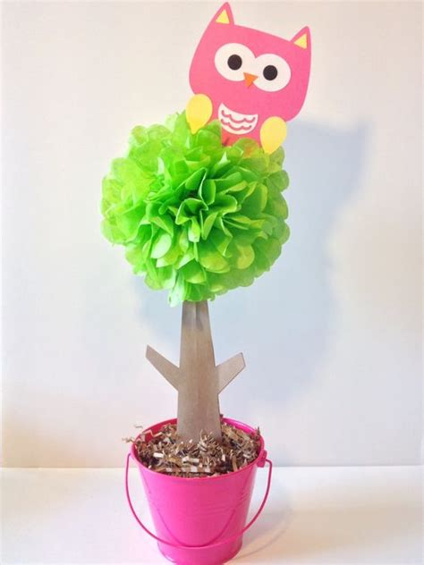 Six 6 Custom Centerpieces For Owl Theme Birthday Or Baby Owl Themed Centerpieces