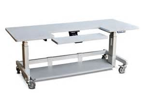 rolling computer desk table adjustable height afcindustries