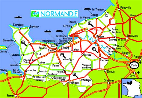 normandy map normandie images