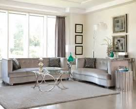 floor and decor az sleek silver gray grey velvet sofa loveseat living room