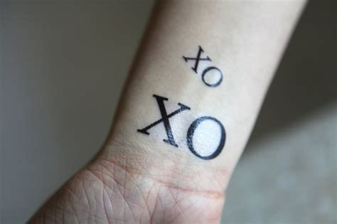 tattoo xo the xo tattoo inscribed pinterest
