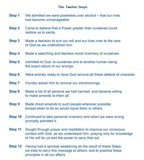 Al Anon Step One Worksheet by The 12 Steps Of Al Anon 12 Step Recovery