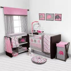 Pink And Gray Nursery Bedding Sets Baby Bedroom Set Nursery Bedding Elephants Pink Grey 10 Pc Crib Infant Room Bedroom