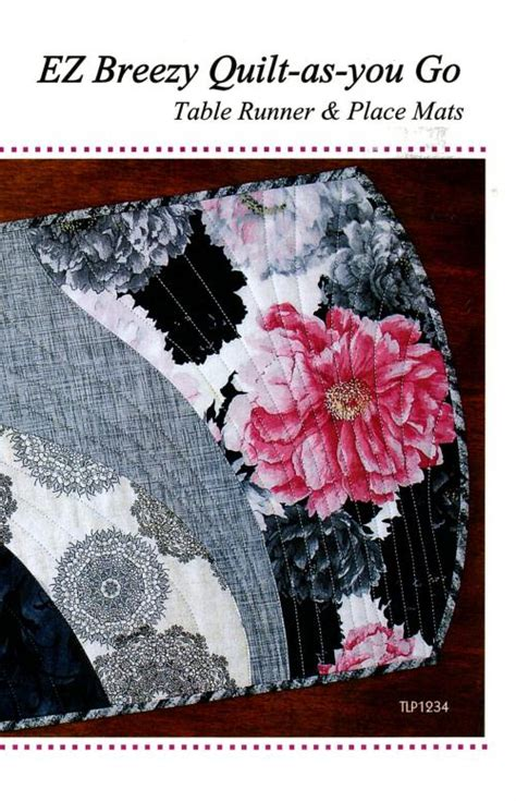 pattern for quilt as you go placemats ez breezy quilt as you go table runner place mats