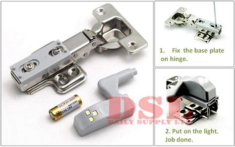Lu Led Hinge Kabinet led light l atached on hinges of kitchen wardrobe cabinet door hinge ebay