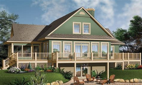 waterfront bungalow house plans waterfront house floor plans small house plans walkout basement water front house