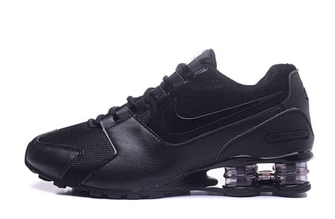 mens nike shox avenue tennis shoes all black